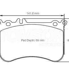 ebc dp42311r yellow stuff brake pads mercedes a45 amg cla45 amg gla45 amg slc43 amg slk55 amg front  [ 1000 x 800 Pixel ]