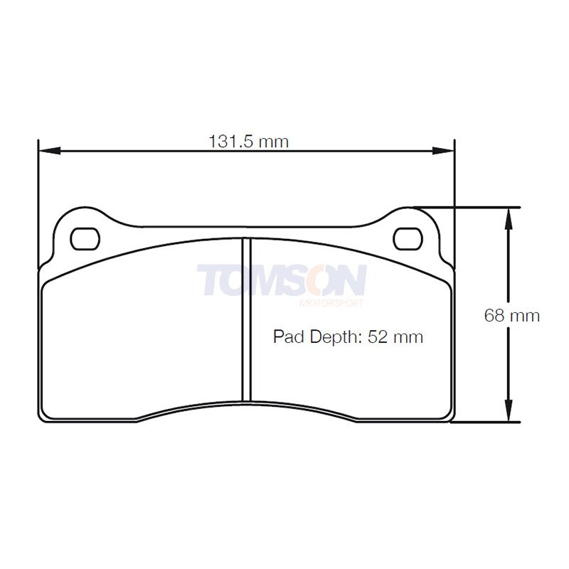 Pagid RSC E1287 brake pads for ceramic discs compound RSC1