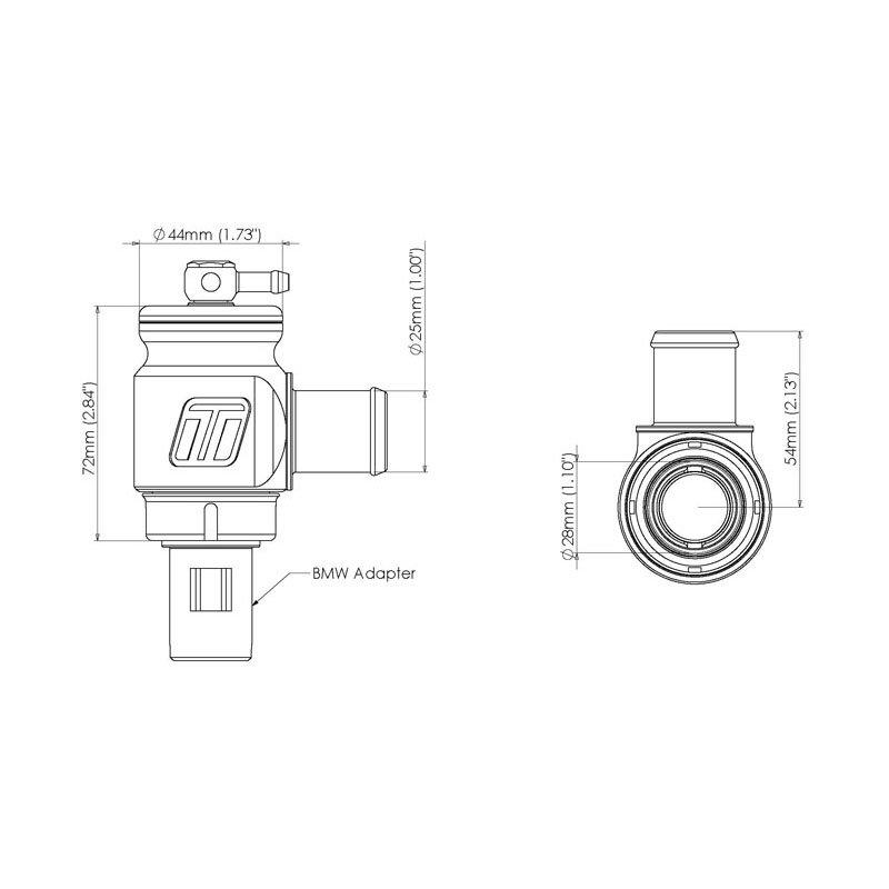 Turbosmart DV Kompact Plumb Back Kit BMW 135i, 335i, 535i