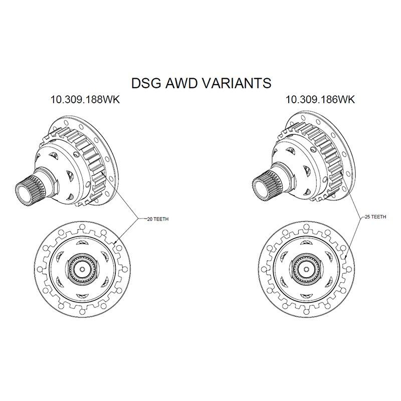 Wavetrac 10.309.186WK LSD Audi A3, TT, VW Golf VI, VII