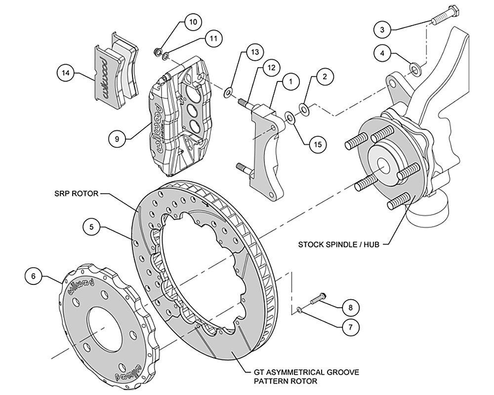Zestaw hamulcowy Wilwood 140-9284 Mitsubishi Lancer Evo 7