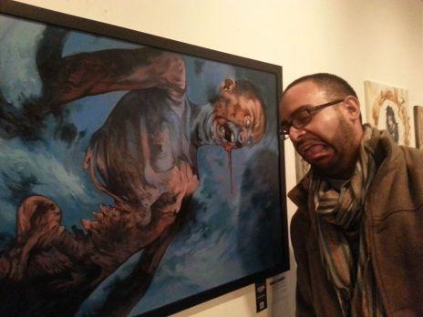 White Zombie Art Piece