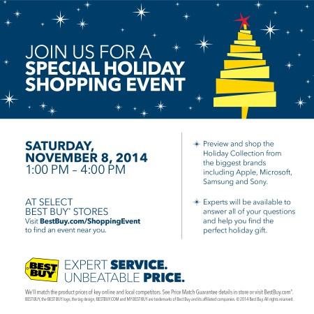 Best Buy Holiday Event November 8th @BestBuy #BBYShoppingEvent