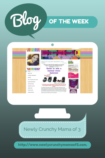 Blog of the Week, Blog, Blogging, Pay it Forward, Newly Crunchy Mama of 3