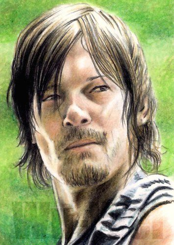 Daryl Dixon from The Walking Dead Sketch Card