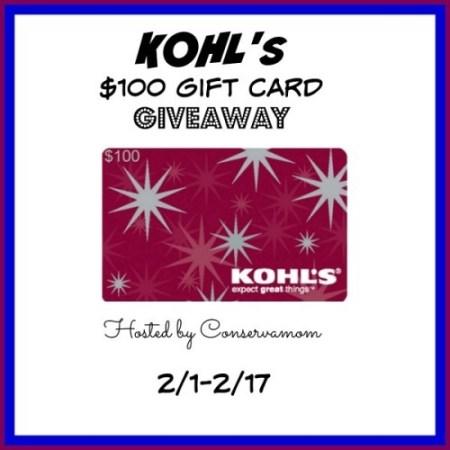$100 Kohl's Giftcard Giveaway