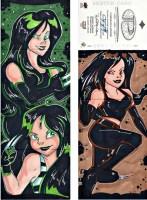 2014 Upper Deck Marvel Premier Mary Bellamy Quad Panel Sketch X-Men X-23 - Wonderful Sketch Card Artist