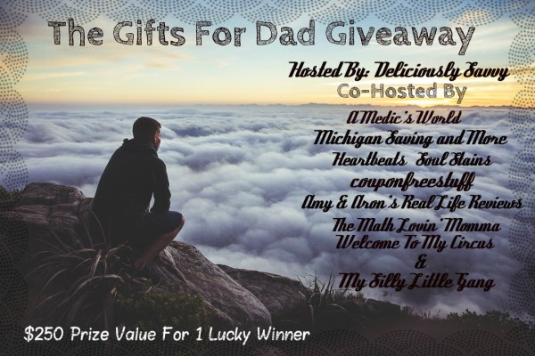 Gifts for Dad Giveaway, Great Prizes Dad would love