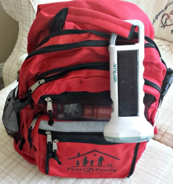 Verilux Flashlight on my First My Family Emergency Dissaster Bag