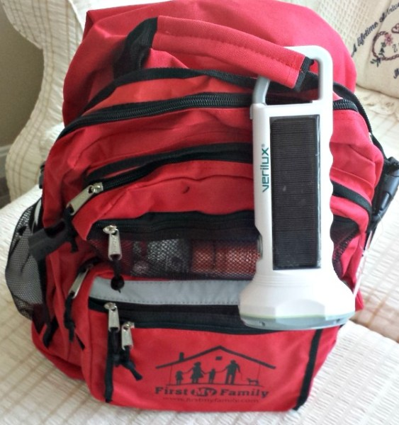 Verilux Flashlight on my First My Family Emergency Dissaster Bag