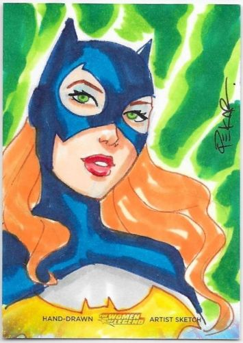 DC Women of Legend Sketch Card Joe Pekar Bat Girl Batman Batgirl - Sketch Card Artist of the Day Joe Pekar