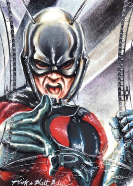 2014 MARVEL PREMIER ASTONISHING ANT-MAN SKETCH CARD BY MICK and MATT GLEBE