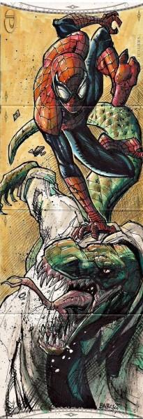 2014 MARVEL PREMIER SPIDER-MAN THE LIZARD SKETCH By BABISU KOURTIS