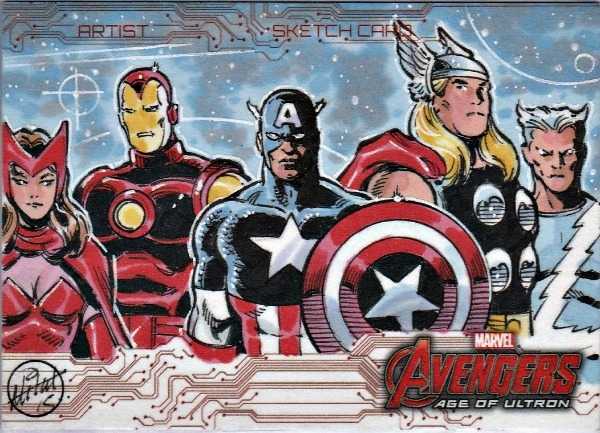 Marvel Avengers Age of Ultron Artist Sketch Card by Mitch Ballard Sketch Card Artist #marvel #sketch
