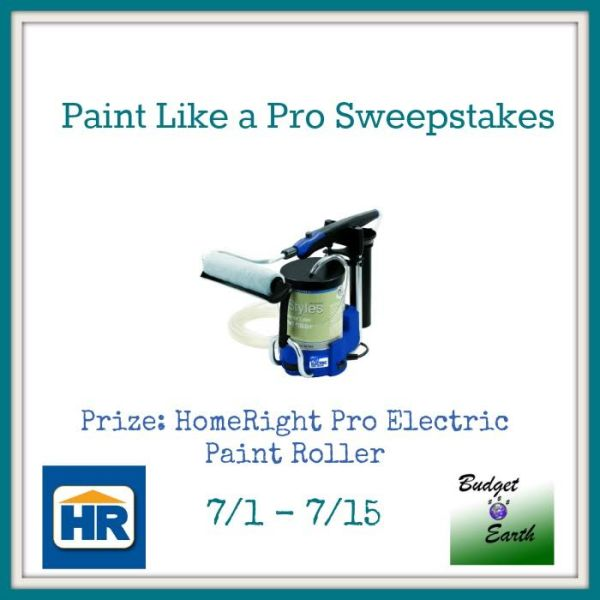 Paint Like a Pro Giveaway Enter to win a HomeRight Pro Electric Paint Roller Sweepstakes
