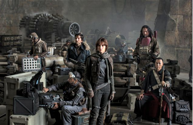 Some of the cast for Star Wars Rogue One