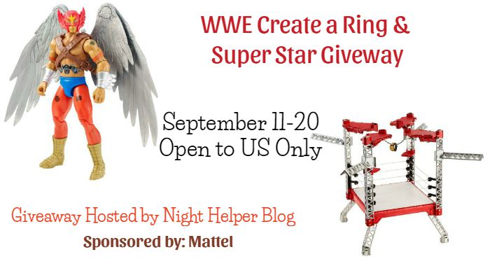 WWE Create a Ring and Create a Super Star Giveaway Ends 9/20 This looks fun!
