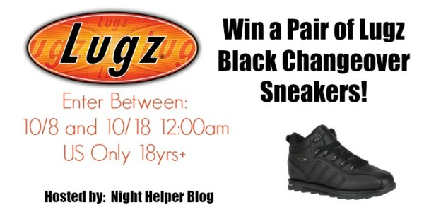 Win a Pair of Lugz Black Changeover Sneakers - Ends 10/18