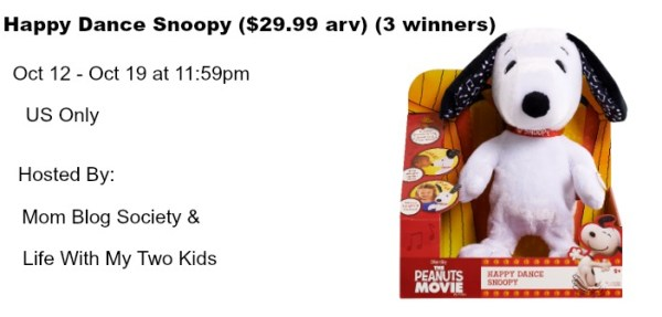 Happy Dance Snoopy Giveaway Ends 10/19 Three different winners, good luck. ~Tom