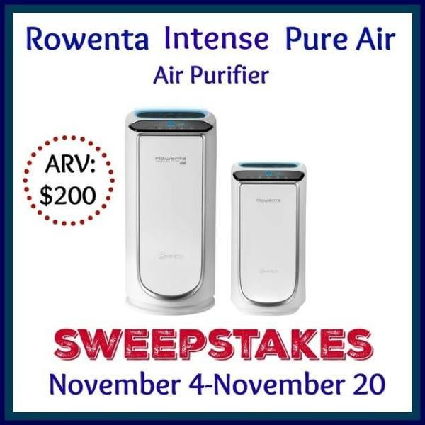 Enter to Win a Rowenta Intense Pure Air Air Purifier - Ends 11/20