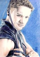 Sketch Card Art of the Day – Hawkeye drawn by Wu Wei Love their work, own a few pieces of theirs already.