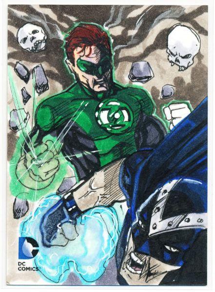Sketch Card Art of the Day Green Lantern drawm bu John Johnston Fantastic Card
