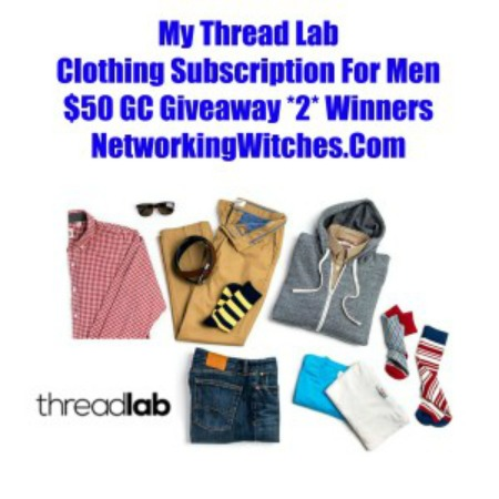 $50 Gift Card Giveaway to ThreadLab Ends 3/31 Good Luck from Tom's Take On Things