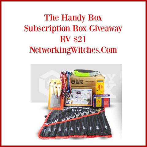 The Handy Box One Monthly Subscription Box Giveaway Ends 4/5 Good Luck from Tom's Take On Things