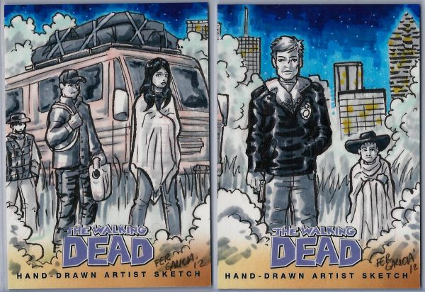 Sketch Card Art of the Day The Walking Dead by Fer Galicia