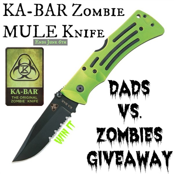 Win a Zombie Mule Serrated Edge Folder Knife Good Luck from Tom's Take On Things