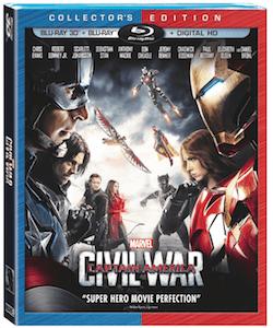 Marvel's Captain America: Civil War on Blu-Ray/DVD Sept. 12th
