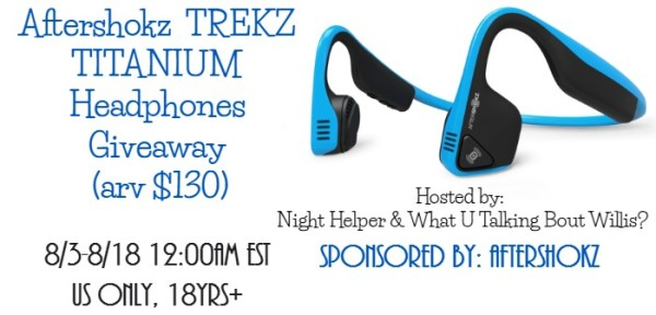 Aftershokz Trekz Titanium Headphones Giveaway Good Luck from Tom's Take On Things