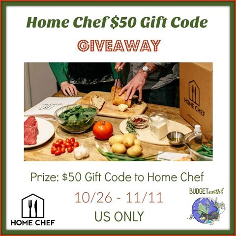 Win a $50 Gift Code to HomeChef ~ Ends 11/11
