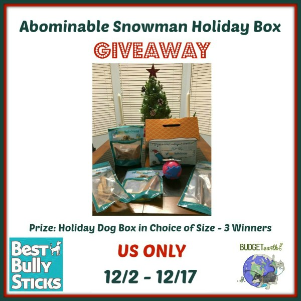 Abominable Snowman Box Giveaway for Dogs