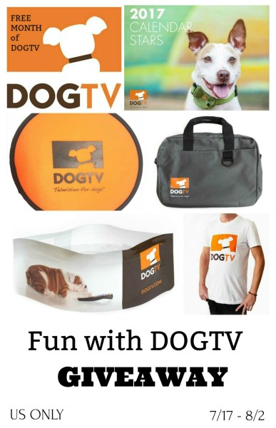 Fun with DOGTV Giveaway - Win a DOGTV Prize Pack Ends 8/2