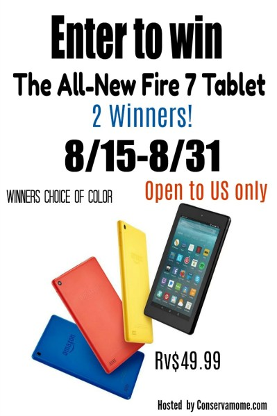 Amazon Fire Tablet Giveaway - Ends 8/31