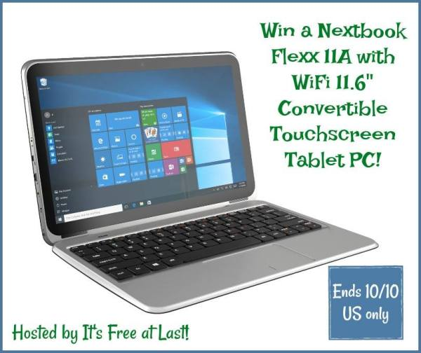 Enter to Win Nextbook Flexx 11A Laptop Tablet Combo Ends 10/10