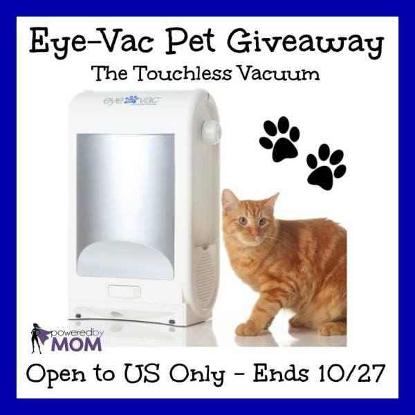 Have a chance to win an Eye-Vac Pet ~ Stay in touch! Ends 10/27