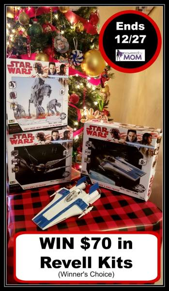Revell Products Prize Pack Giveaway Ends 12/27