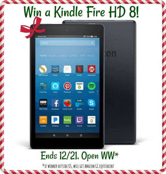 Kindle Fire HD 8 Tablet Giveaway Ends 12/21