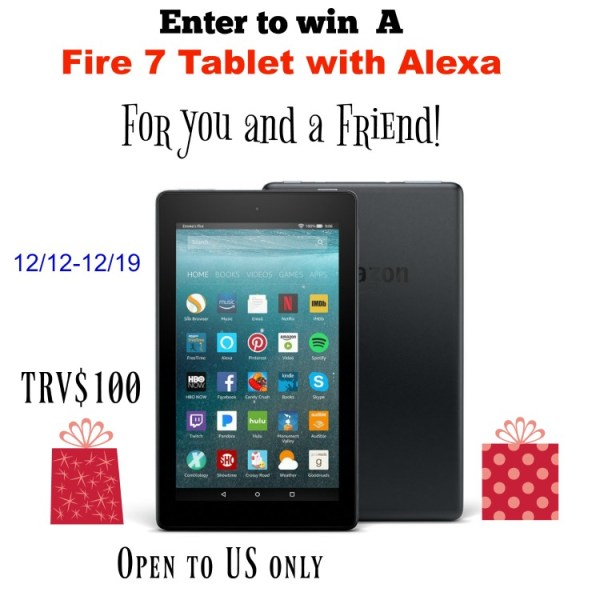 Fire 7 Tablet with Alexa Giveaway - Ends 12/20