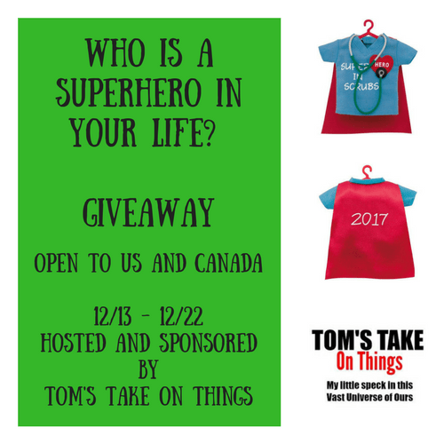 Who Is A Superhero In Your Life? Giveaway - Christmas Ornaments Ends 12/22