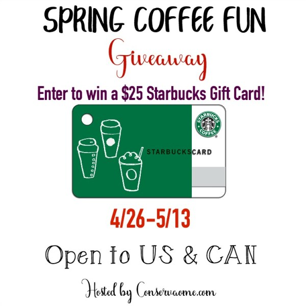 $25 Starbucks Gift Card Giveaway ~ Open to US and CAN Ends 5/13