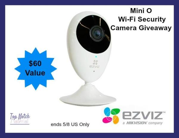 Mini O Wi-Fi Security Camera Giveaway Ends 5/8