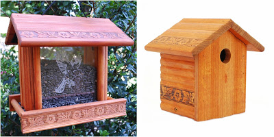 Redwood Etched Glass Bird Feeder and Bird House Giveaway Ends June 30th Good Luck from Tom's Take On Things