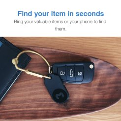 Always misplacing your keys? Not again with the MYNT ES Tracker This little device helps me find my keys in no time, or anything else you want to attach it to