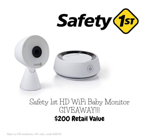 Safety 1st HD WiFi Baby Monitor Giveaway – $200 value! (ends 6/20) Good Luck from Tom's Take On Things