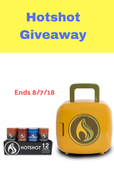 12 pack of Hotshot drinks and a Hot Box Giveaway Ends on August 7th Good Luck in winning this prize pack that Tom's Take On Things is helping give away.