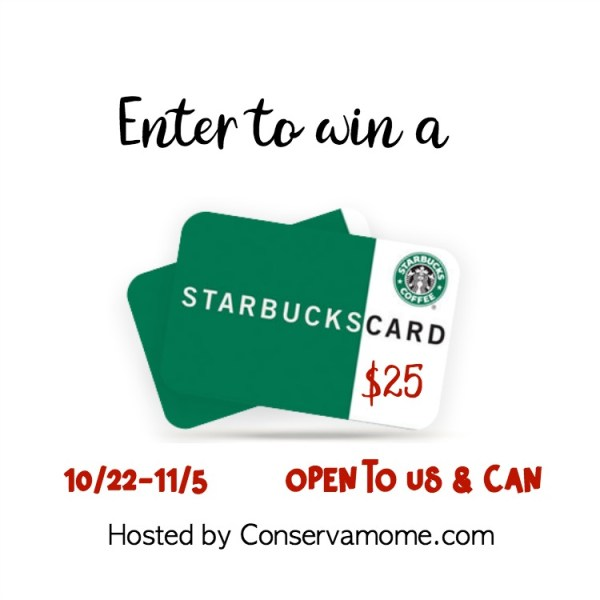 $25 Starbucks Gift Card Giveaway Ends 11/5 Love coffee? Enter now! Good Luck from Tom at Tom's Take On Things.
