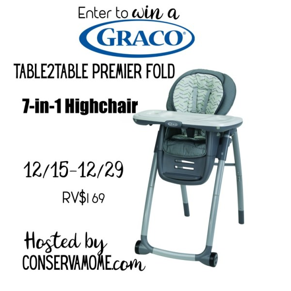 Kids grow. This grows with them. You have a chance to win this Graco 7-in-1 Highchair in this giveaway that my blog is helping promote.